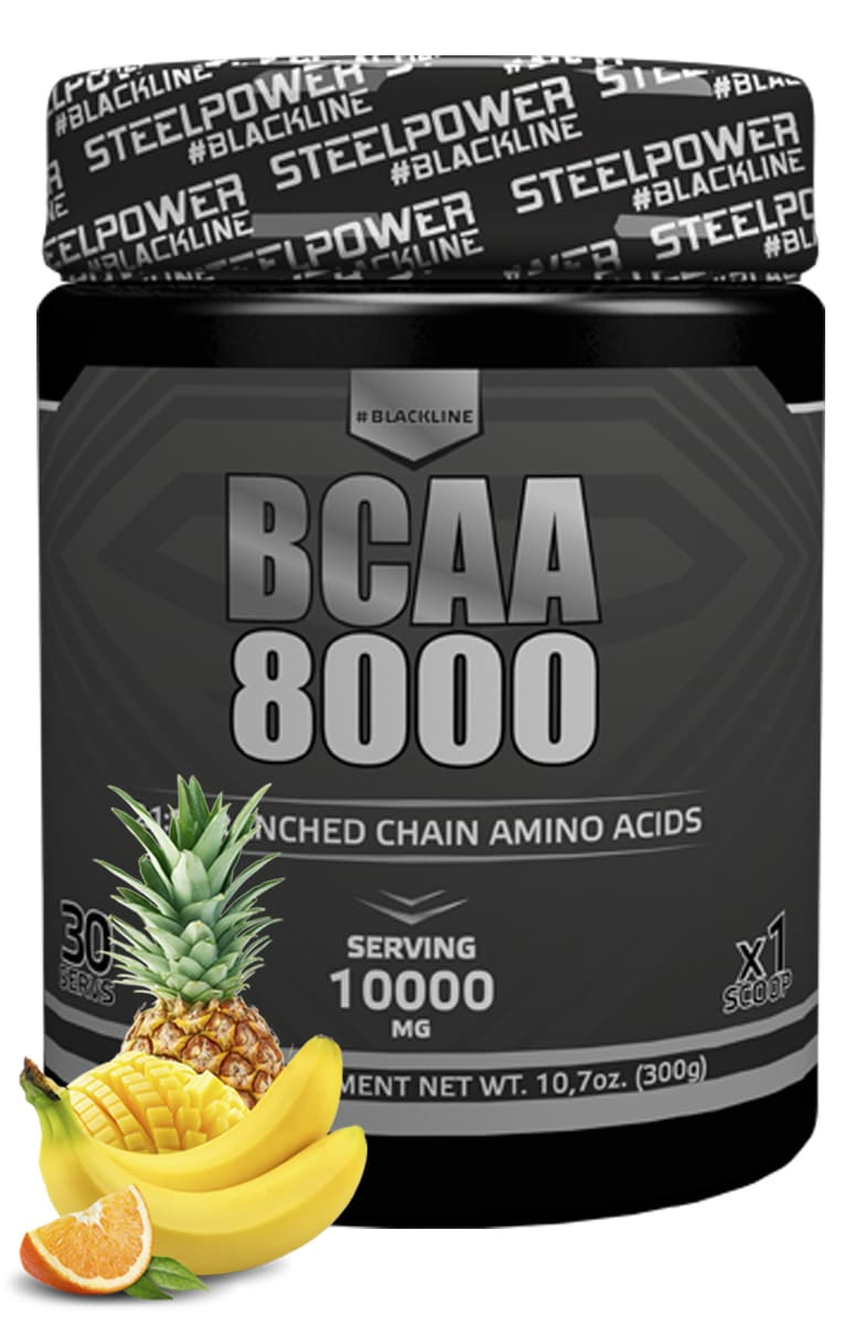 BCAA SteelPower Nutrition BCAA8000 300 г, вкус Тропик Микс bcaa 3300