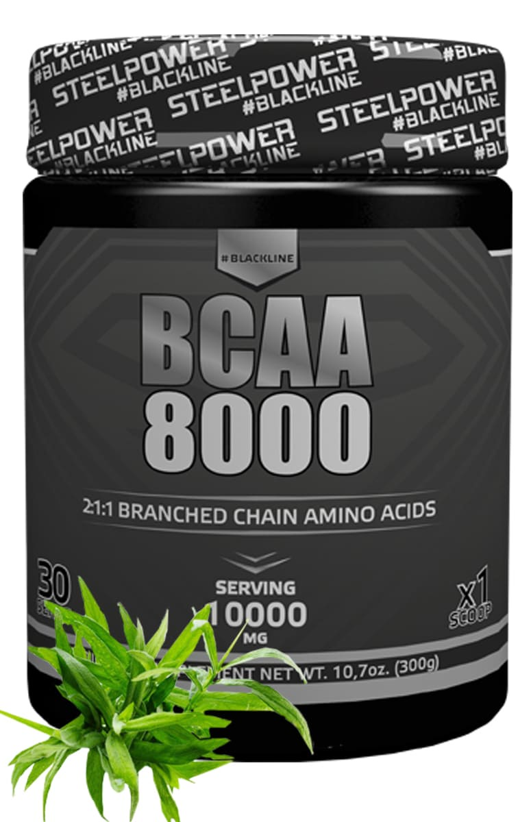BCAA SteelPower Nutrition BCAA8000 300 г, вкус Тархун bcaa 3300