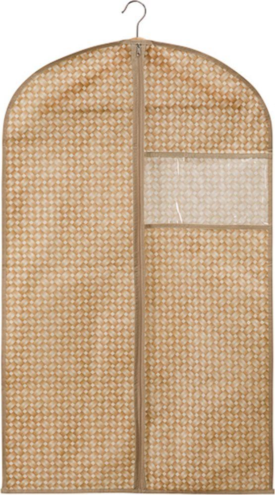 чехол для одежды handy home лен uc 25 60х100 см Чехол для одежды Handy Home Плетенка, FF-01, песочный, 100 х 60 см