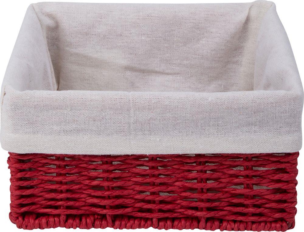 Корзина для мелочей Handy Home Paper, QR-P01, красный, 20 х 20 х 10 см корзина быстросъёмная плетеная белая wg 20