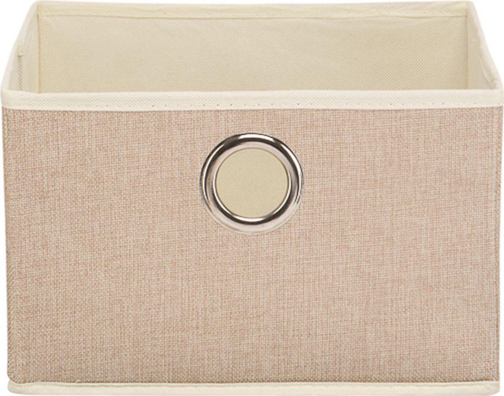 цены Коробка для хранения Handy Home Лен, UC-29, песочный, 28 х 28 х 18 см
