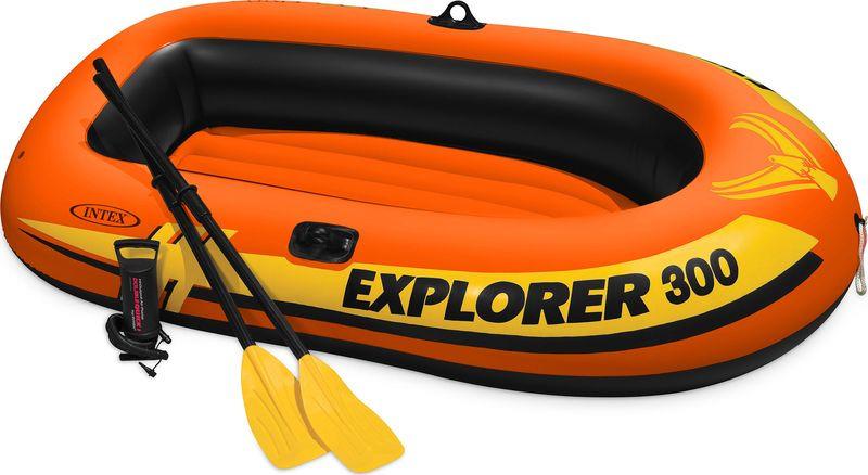 """Лодка надувная Intex """"Эксплорер 300"""", с58332, красный, 211 х 117 х 41 см"""