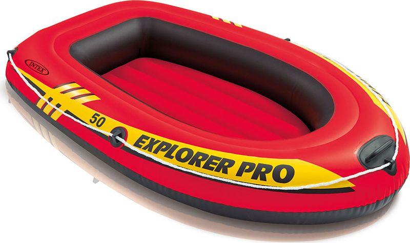 Лодка надувная Intex Эксплорер про 50, с58354, красный, 137 х 85 х 23 см