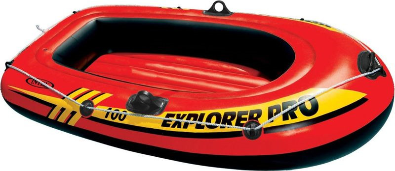 Лодка надувная Intex Эксплорер про 200, с58356, оранжевый, 196 х 102 х 33 см цена