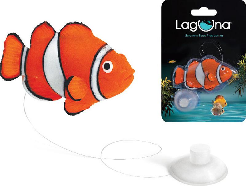 Декорация для аквариума Laguna Клоун, 9,7 х 14 х 2,5 см рыбки для маленького аквариума 5 литров