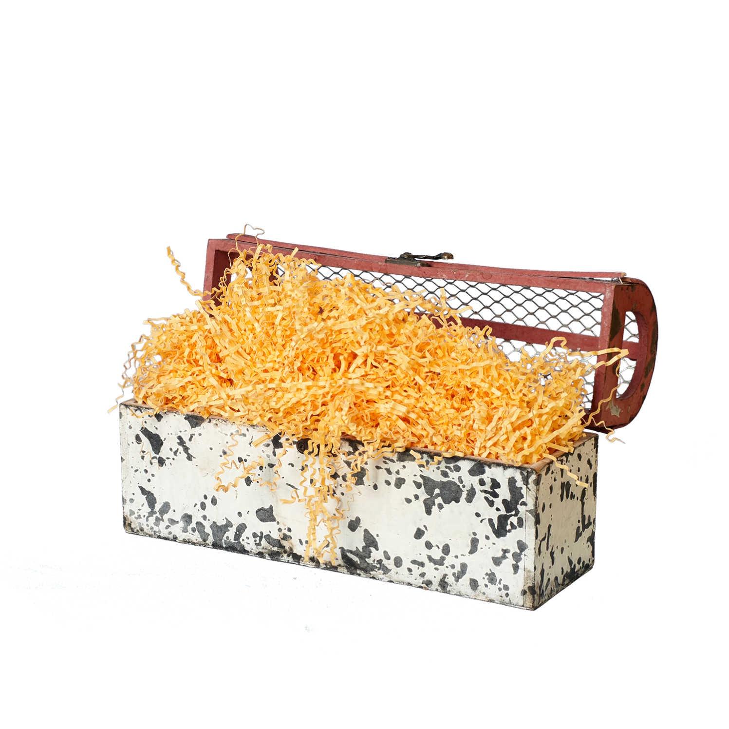 Подарочная упаковка paperforhappy Гофрированный бумажный наполнитель толщиной 2 мм, кремовый супермаркет] [jingdong подлинного цвета фильтра типа мундштук очистка обшивки подарочные коробки zb 209 2 gold