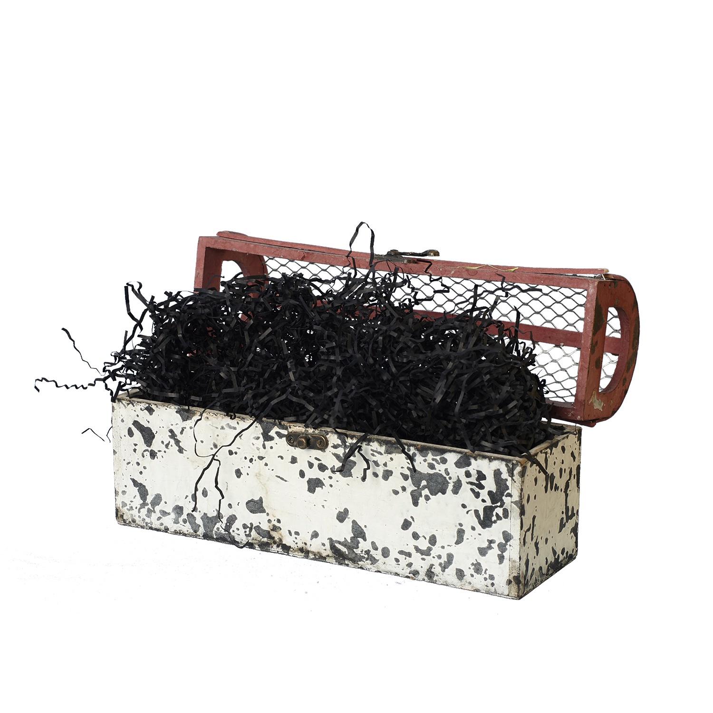 Подарочная упаковка paperforhappy Гофрированный бумажный наполнитель толщиной 2 мм, черный