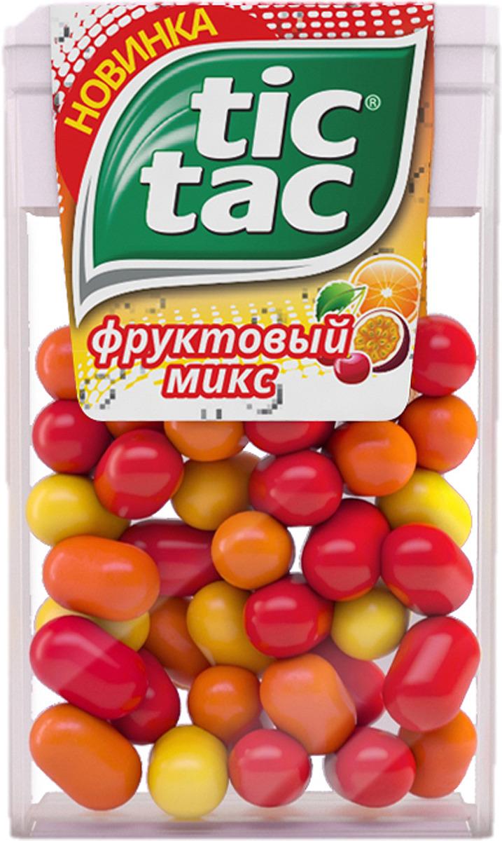 Драже Tic Tac Фруктовый микс, со вкусом вишни, апельсина и маракуйи, 16 г
