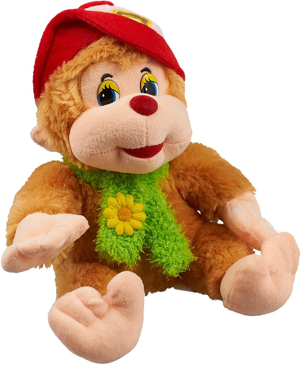 Magic Bear Toys Мягкая игрушка Обезьяна Ульяна в шляпе цвет светло-коричневый 24 см стоимость