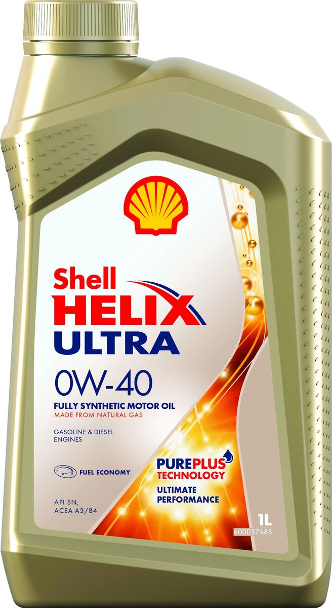 Моторное масло Shell Helix Ultra, синтетическое, 0W-40, 1 л Shell