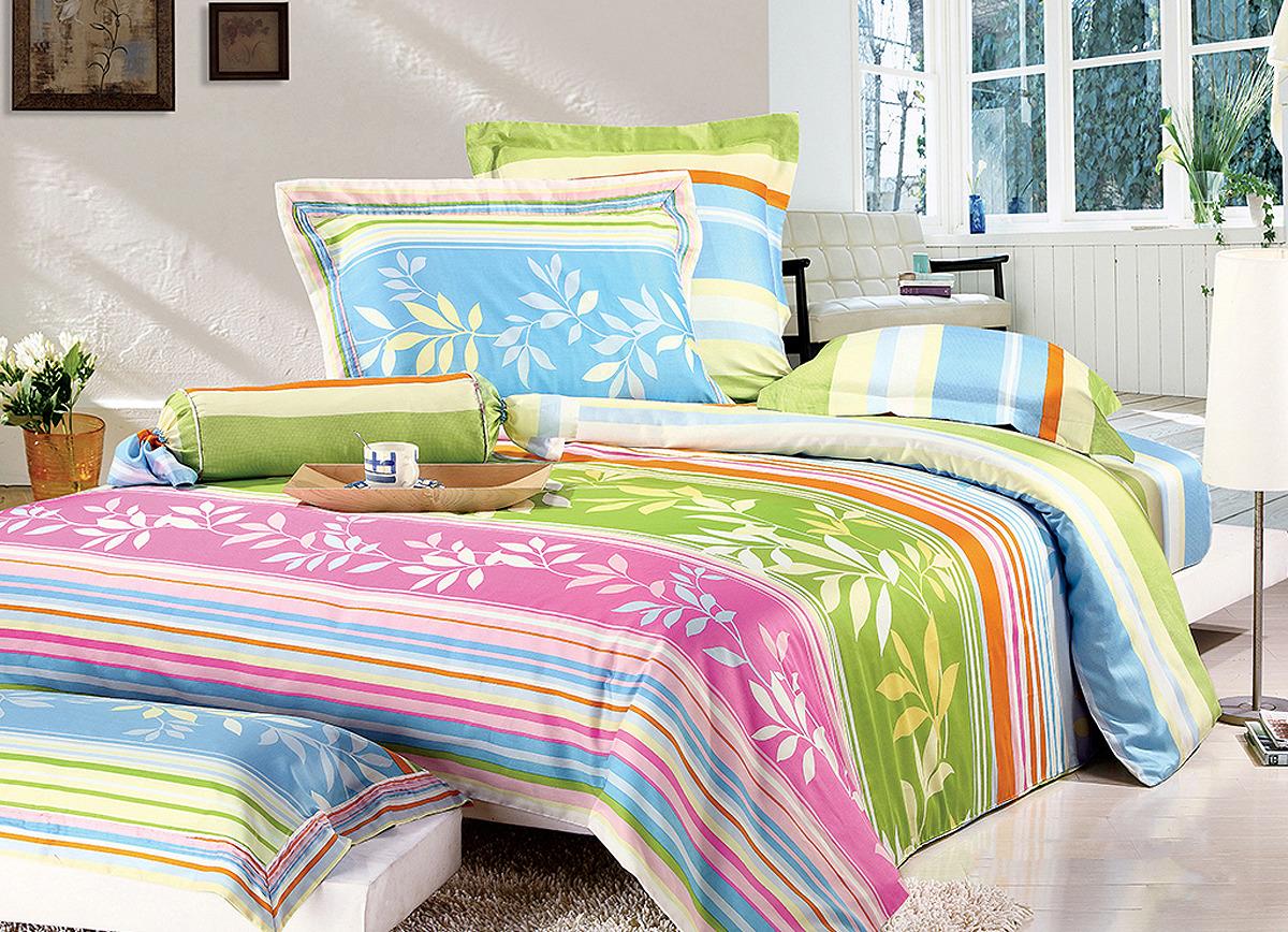Комплект постельного белья Tiffany's Secret Весна, 204110679, сатин, евро комплект постельного белья tiffany s secret 1 5 сп сатин аромат нежности n70
