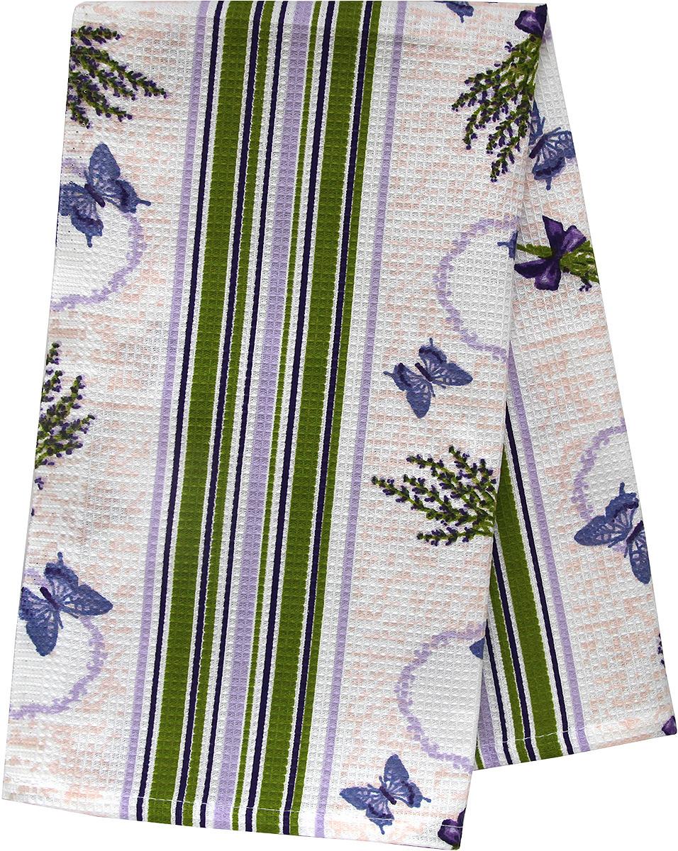 Полотенце кухонное Bonita Лаванда, вафельное, зеленый, 21010817797, 35 х 61 см полотенце кухонное bonita bonita mp002xu0e0b0