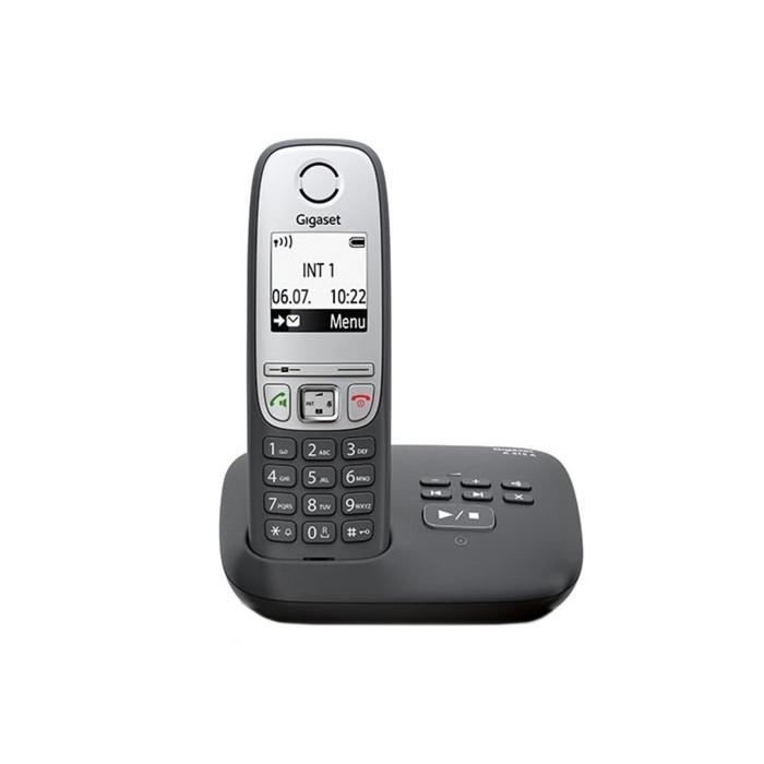 Радиотелефон с автоответчиком Gigaset A415 AM RUS BLACK, черный радиотелефон gigaset a415 a черный a415 am