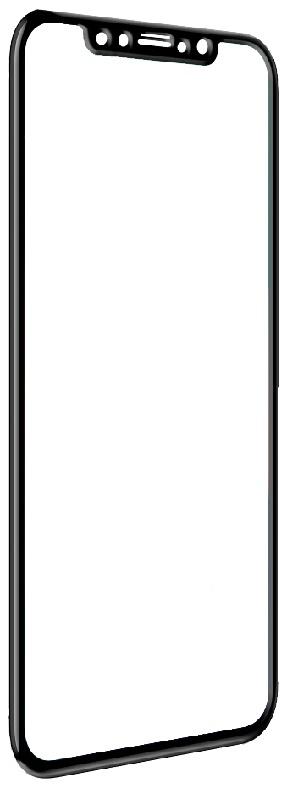 Защитное стекло iPhone 6 7 8 plus / 3D / FG / Черная рамка