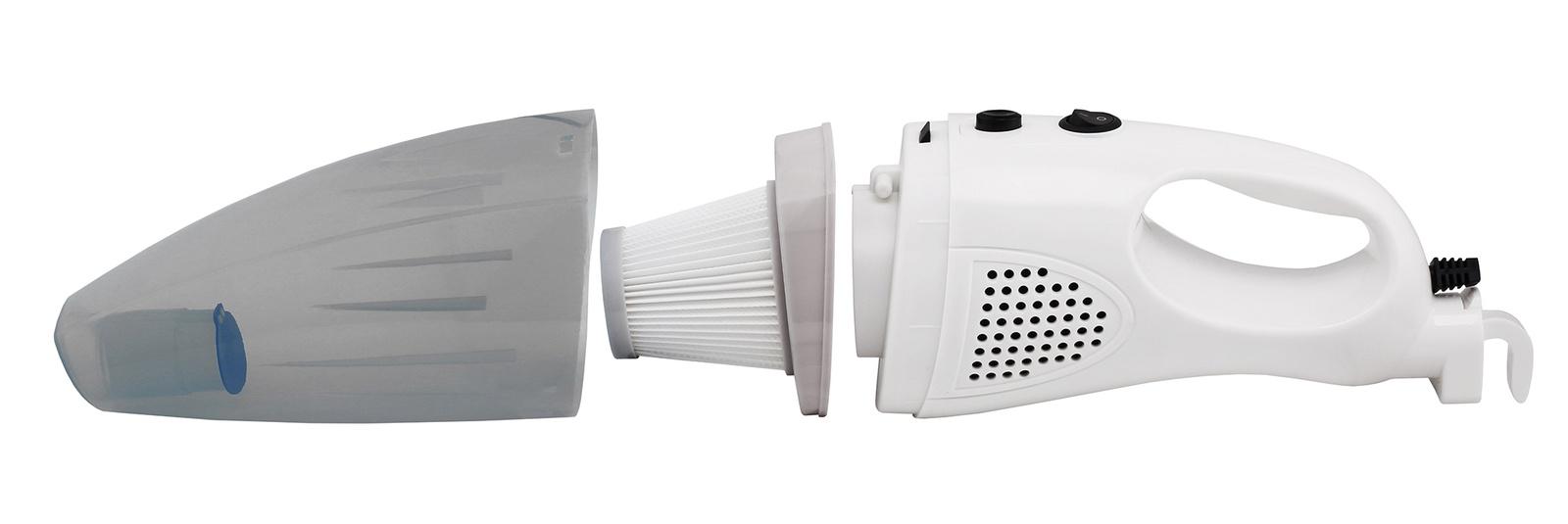 Беспроводной пылесос PROFFI вертикальный, ручной 2 в 1, 9 насадок и USB флэш-накопитель со сборником мультфильмов, белый, серый, светло-серый, прозрачный Proffi