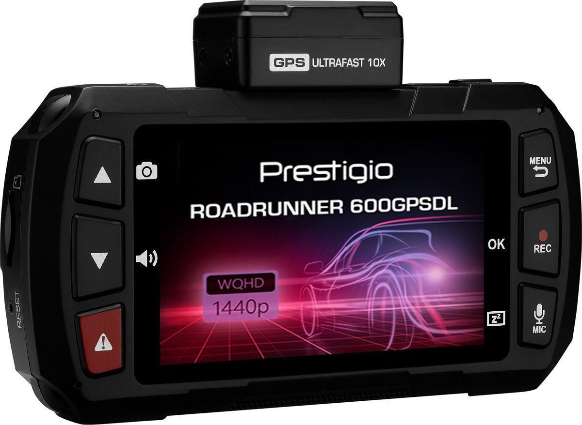 Видеорегистратор Prestigio RoadRunner 600GPSDL, черный видеорегистратор prestigio roadrunner 525