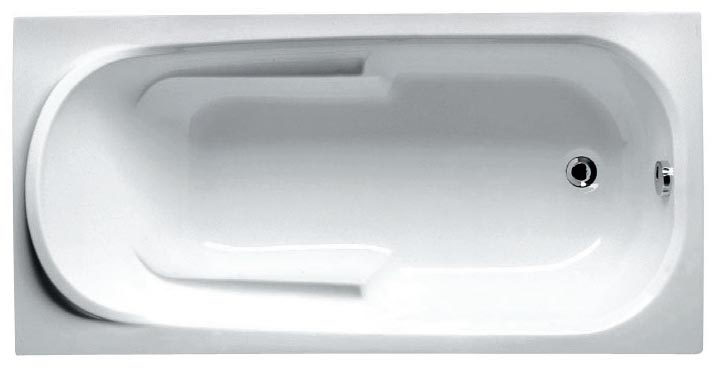 Ванна Riho Columbia 160x75 без гидромассажа с ножками, белый