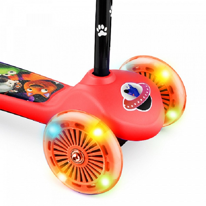 Самокат Small Rider Cosmic Zoo Scooter, красный самокат small rider cosmic zoo scooter зеленый