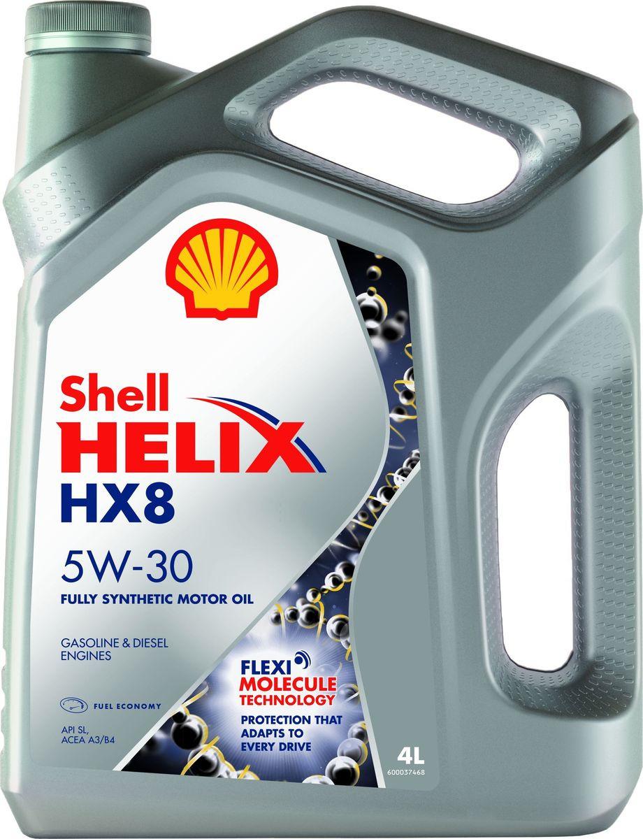 Моторное масло Shell Helix HX8 Synthetic, синтетическое, 5W-30, 4 л