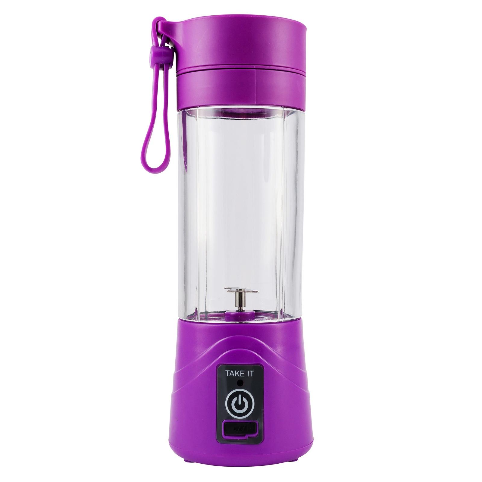 Блендер для смузи портативный на аккумуляторе Take IT X2, цвет: фиолетовый