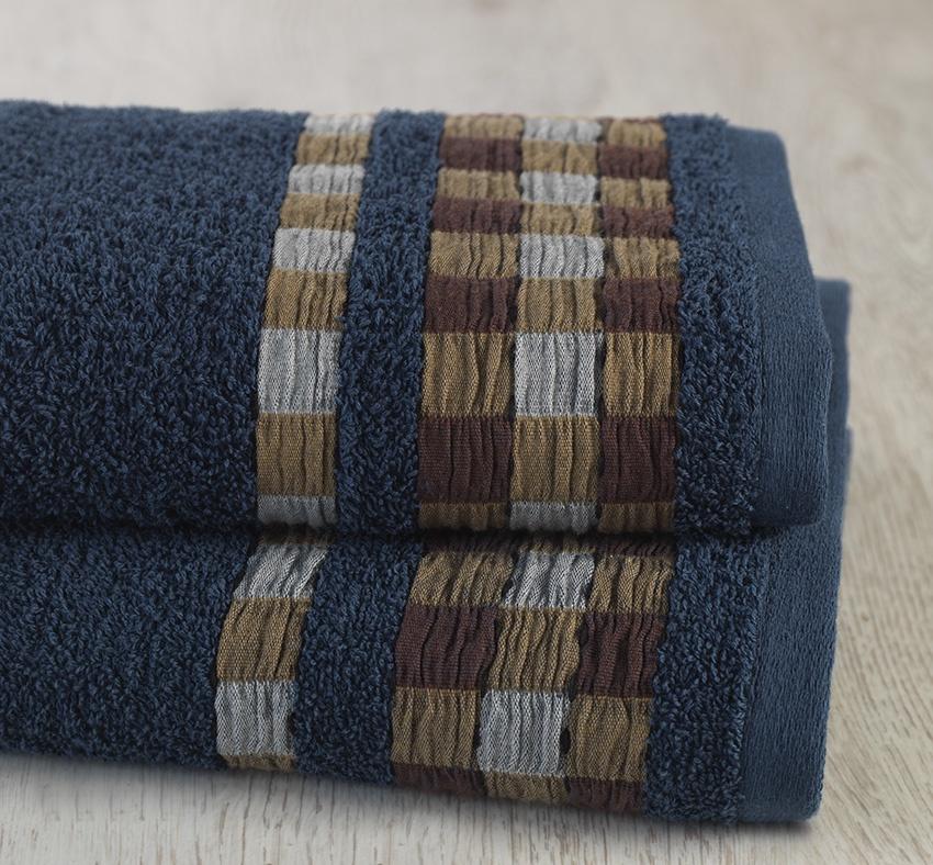 Полотенце банное Allegro Тьентос, темно-синий полотенца valentini полотенце earleen цвет темно синий набор