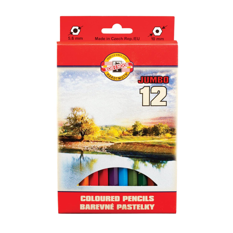 """Набор карандашей KOH-I-NOOR цветные утолщенные """"Omega"""", 12 цветов, 5,6 мм, заточенные, европодвес, 3372012016KS"""