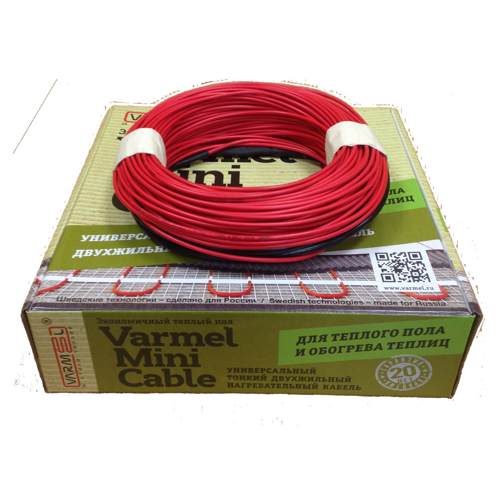 Теплый пол Varmel Mini Cable 1170 Вт, 5,85-9,75 кв. м.  Varmel