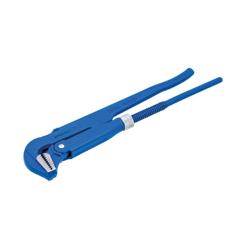 Ключ NORGAU трубный 1, губки под углом 90°, тип NPW175 клещи vde norgau n278vde 250 067230025
