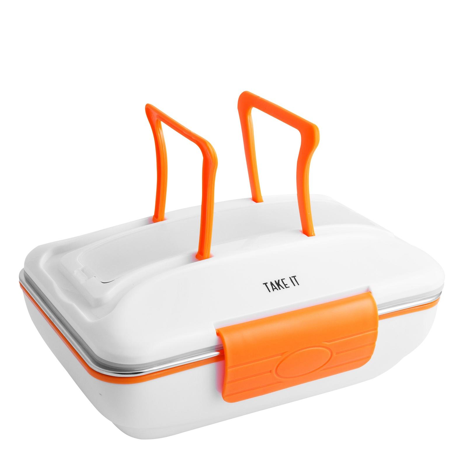 Ланч-бокс TAKE IT с подогревом, от сети 220В, белый, оранжевый Take It