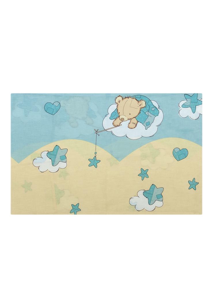 Наволочка Сонный гномик Мишки сон, голубой