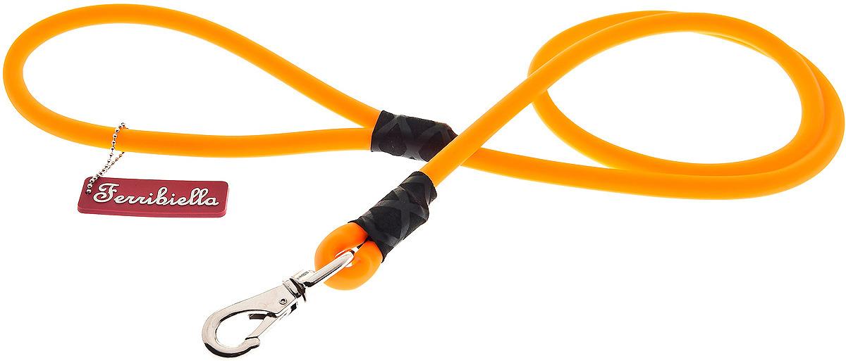 Поводок для собак Ferribiella Guinzaglio Collare Fun Silicone, 47248, оранжевый, длина 165 см