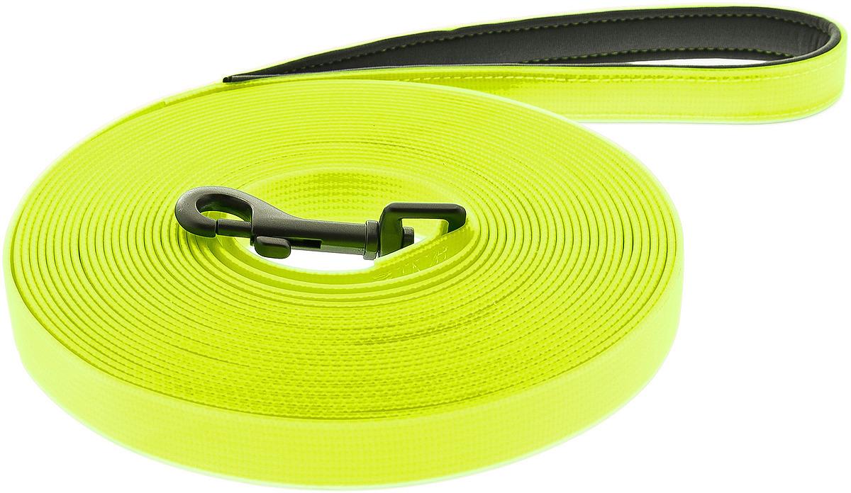 Поводок для собак Ferribiella Lunghina Fun Flat, 47280, желтый, длина 10 м