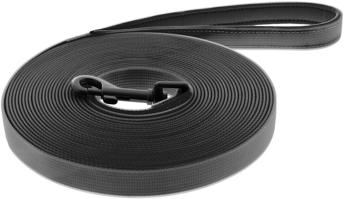 Поводок для собак Ferribiella Lunghina Fun Flat, 47282, черный, длина 6 м