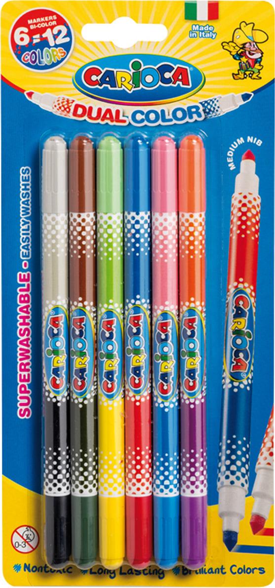 Фломастеры двусторонние Carioca Bi-Color, 229557, 12 цветов