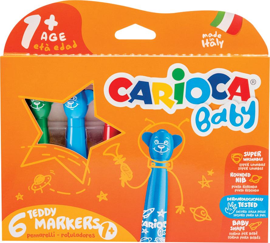 Фломастеры Carioca Baby Teddy Marker, 262567, 6 цветов