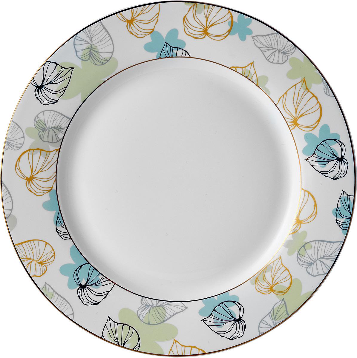 Набор десертных тарелок Esprado Botanica, BTN019GE301, белый, разноцветный, диаметр 19 см, 6 шт