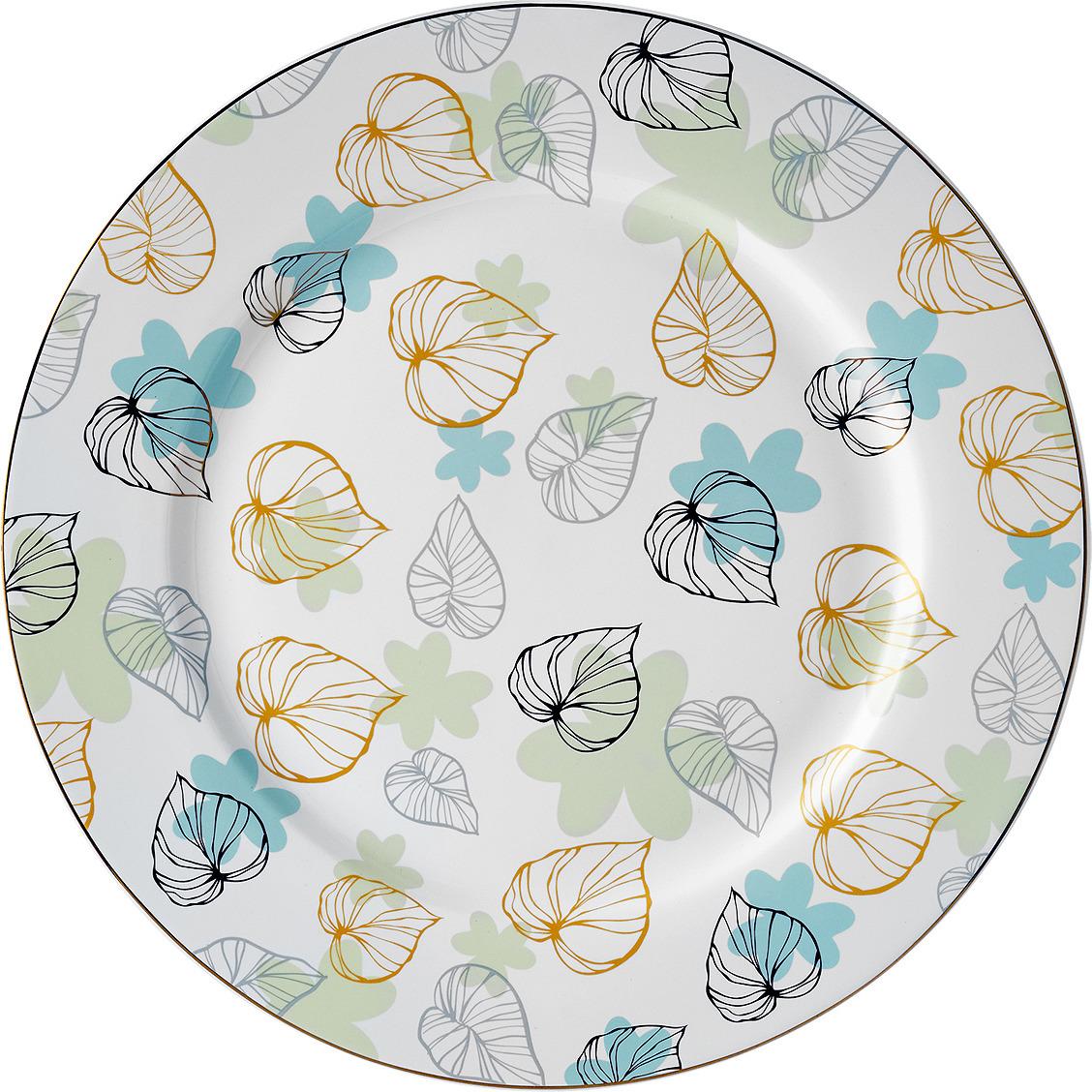 цены Набор тарелок Esprado Botanica, BTN027GE301, белый, разноцветный, диаметр 27 см, 6 шт