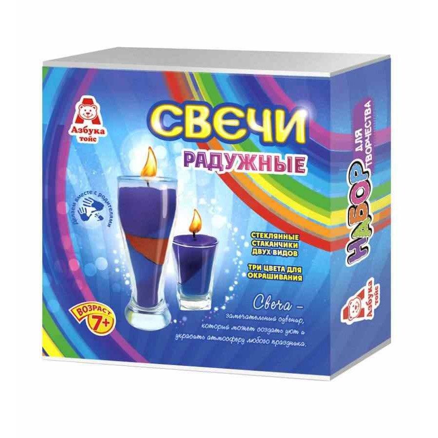 Свечи радужные СВ-0006 Азбука Тойс