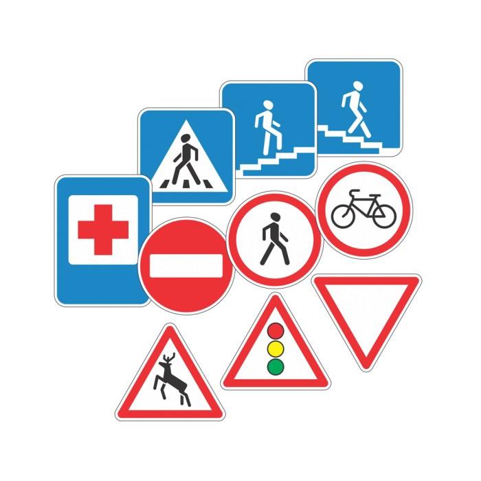 Игровой набор Теремок дорожные знаки