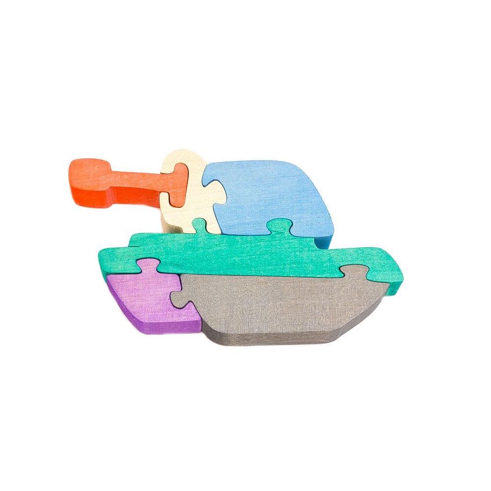 Игровой набор Деревяшкино танк развивающая игрушка деревяшкино танк