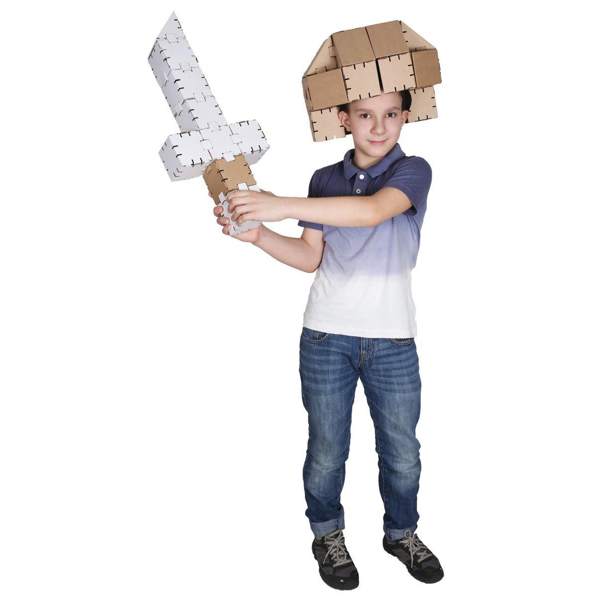 Конструктор картонный Yohocraft Набор Воина yohocube картонный конструктор ангелочки yohocube