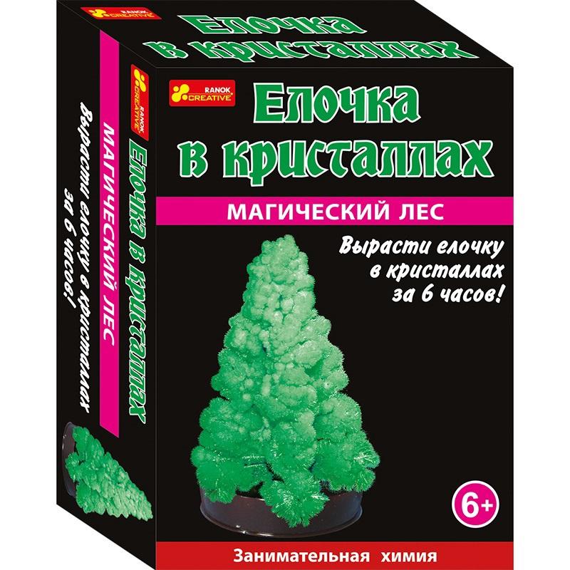 Набор для опытов Елочка в кристаллах (зеленая) набор для выращивания ранок твоя фоторамка в кристаллах