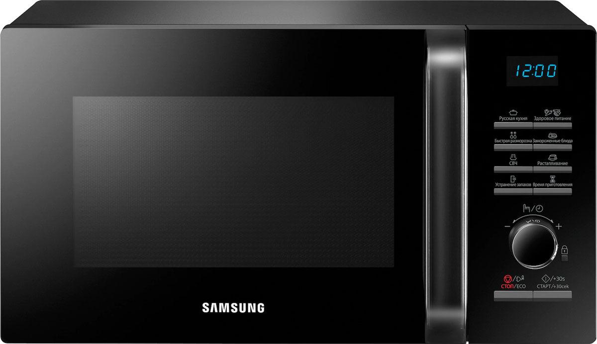 Микроволновая печь Samsung, MS23H3115FK/BW, черный samsung ge83krqw 2 bw