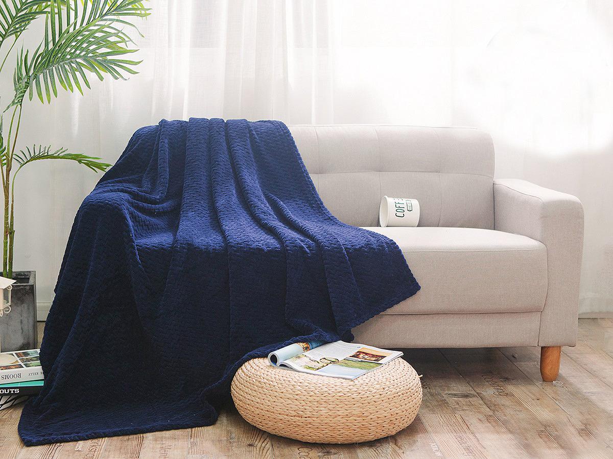 цена Плед Cleo Royal Plush, 180/006-RP, синий, 180 х 200 см онлайн в 2017 году