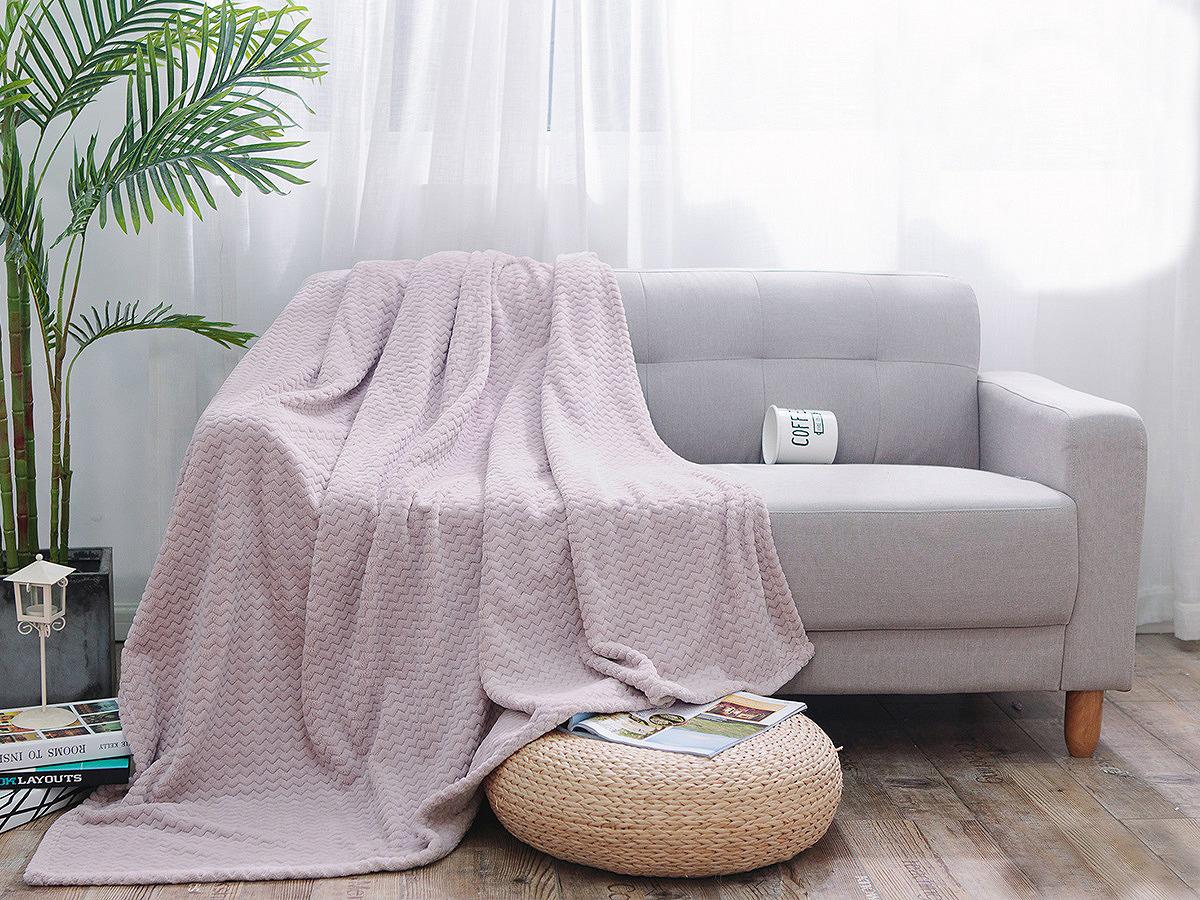 Плед Cleo Royal Plush, 150/020-RP, светло-розовый, 150 х 200 см плед cleo royal plush евро цвет крем брюле 200 х 220 см