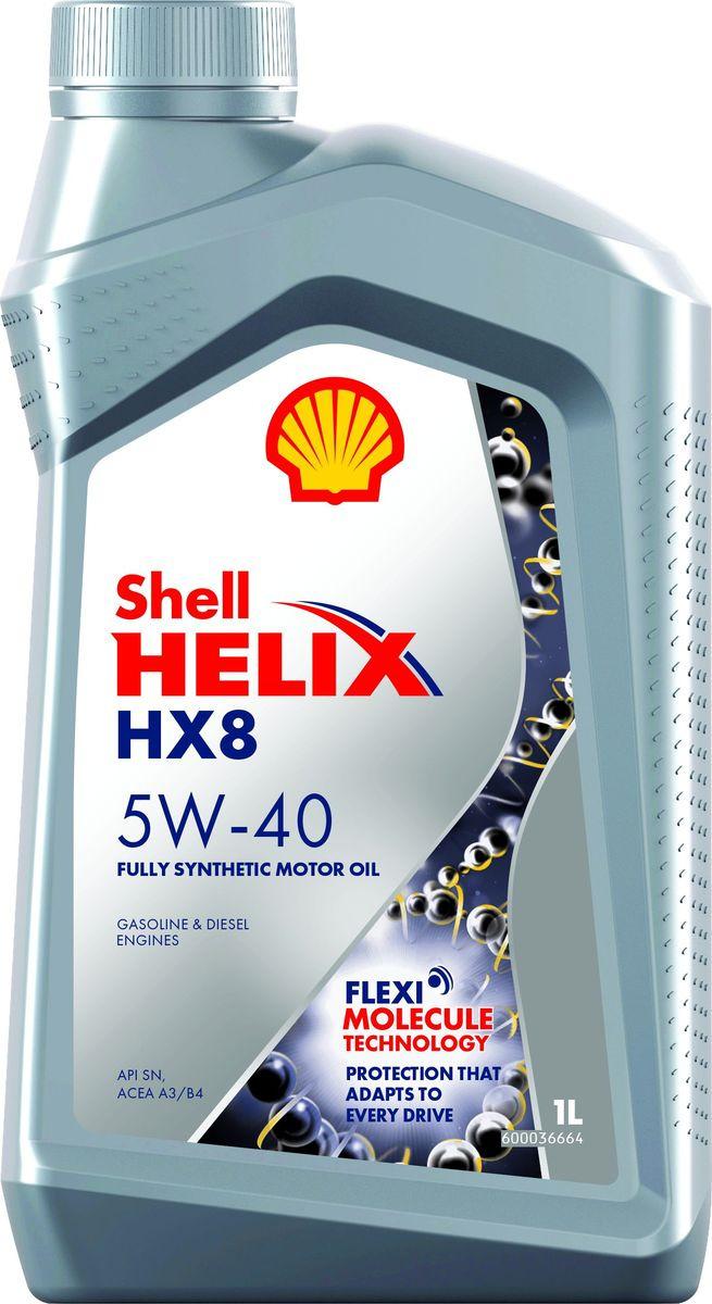 Моторное масло Shell Helix HX8 Synthetic, синтетическое, 5W-40, 1 л