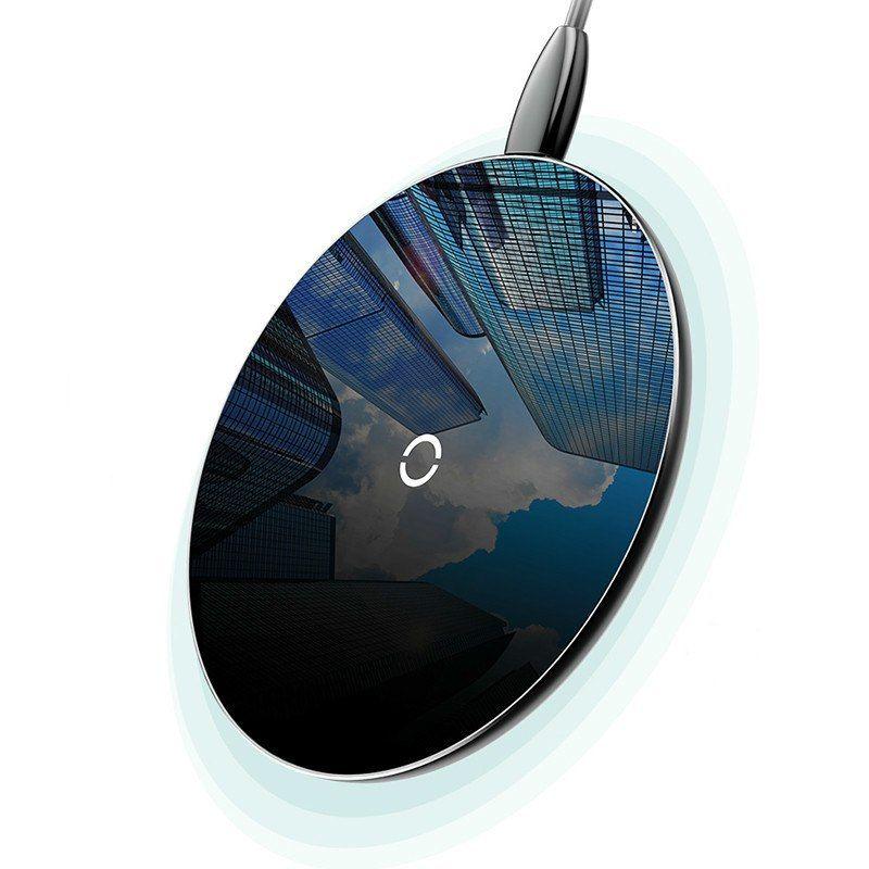 Фото - Беспроводное зарядное устройство Baseus CCALL-CJK01, черный беспроводное зарядное устройство baseus simple wireless charger черный