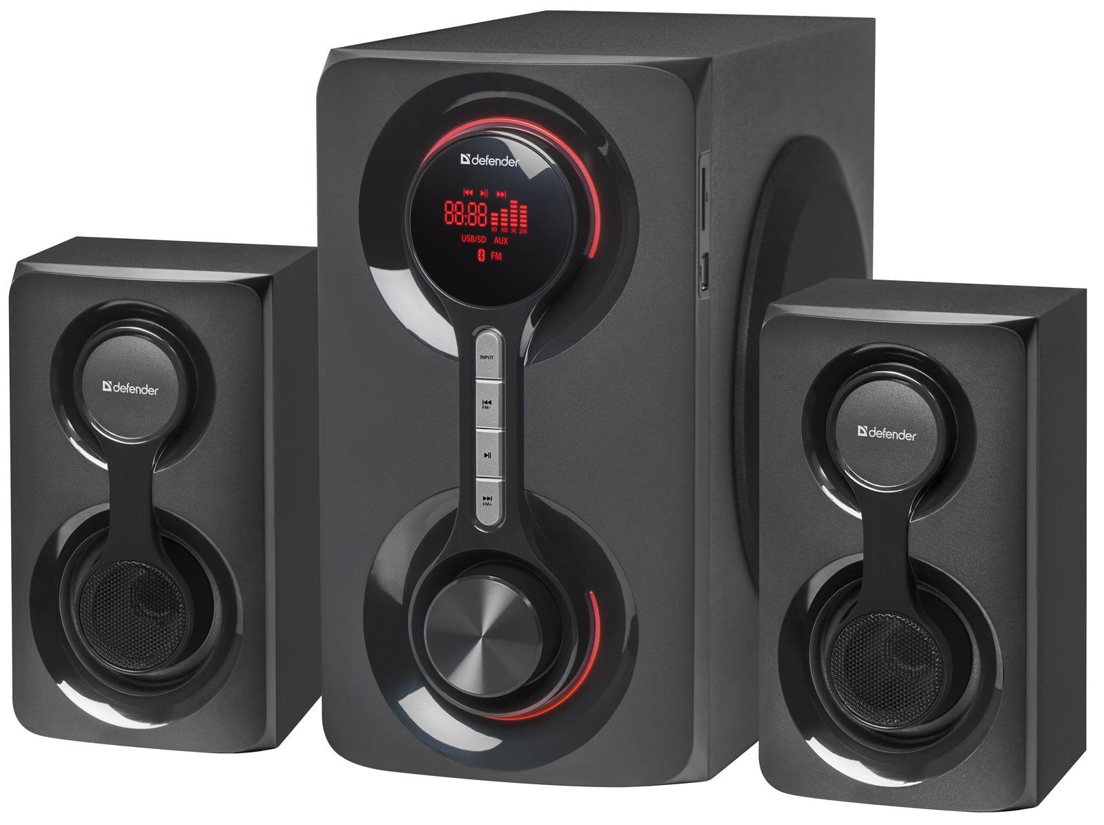 Акустическая 2.1 система Defender Tornado 60Вт, Bluetooth, FM/MP3/SD/USB