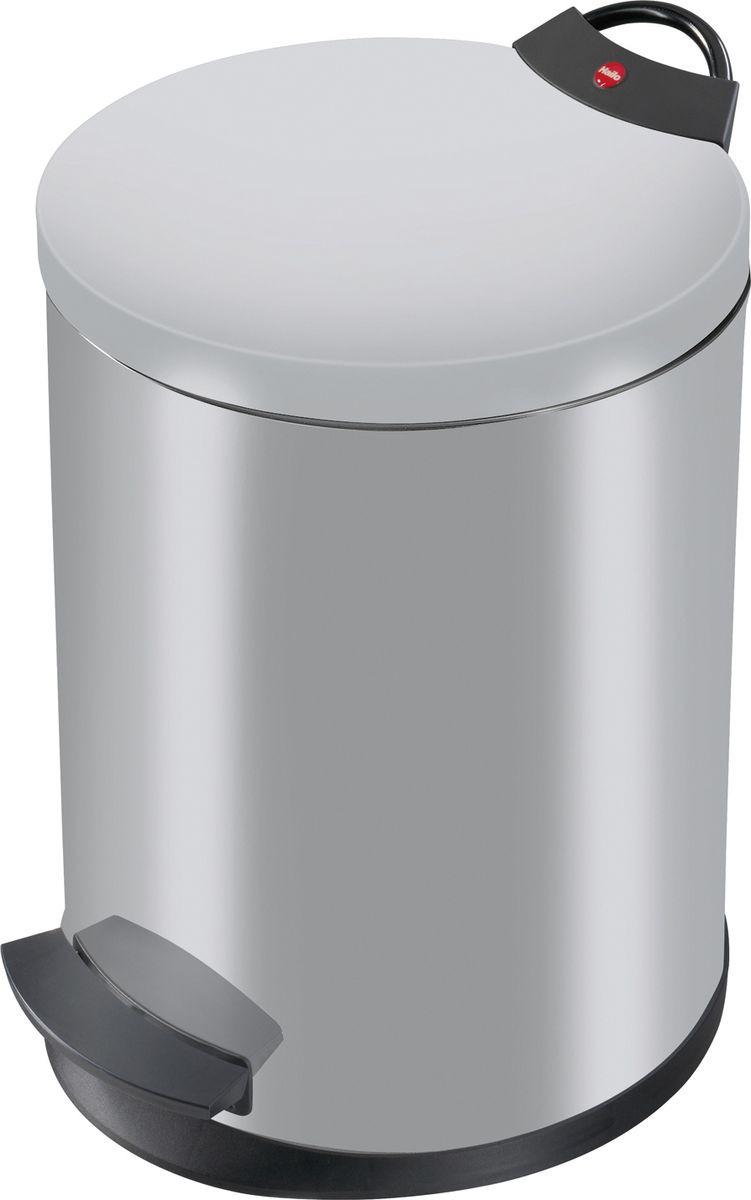Мусорное ведро Hailo T2, 0513-119, серебро, 11 л