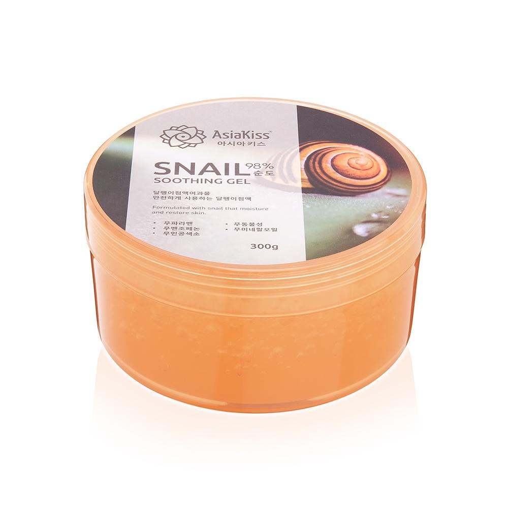 Гель для ухода за кожей AsiaKiss Soothing Gel Snail маска для тела увлажняющая